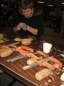 Alec carving