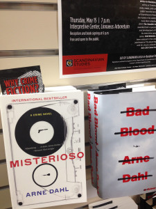 Two novels from Arne Dahl's award-winning Intercrime series, MISTERIOSO and BAD BLOOD, have been released on the U.S. market and are on sale at The Book Mark.